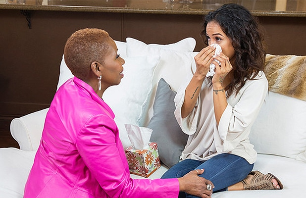 Iyanla Vanzant and Karrueche Tran. (Credit: OWN)