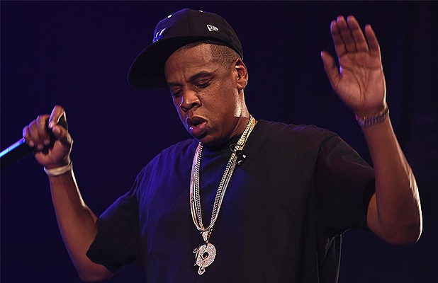 "Jay Z performs at the ""B Sides"" concert in New York City in 2015. (Credit: Tidal)"