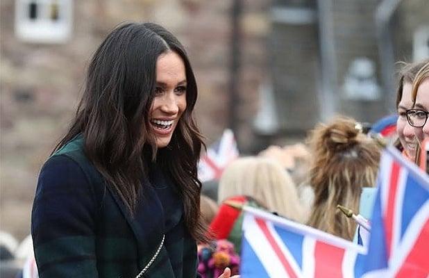 Meghan Markle greeted well-wishers in Scotland on February 13, 2018. (Credit: Instagram/kensingtonroyal)