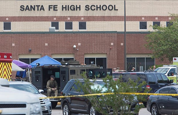 A gunman opened fire at Santa Fe High School in Santa Fe, Texas on Friday, May 18, 2018. (Credit: YouTube)