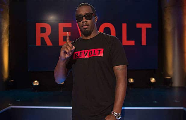 Sean Combs is shown at a Revolt event. (Credit: Adrien Vargas/Revolt)