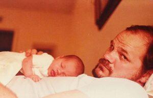 Thomas Markle cradles baby Meghan. (Credit: Instagram/Meghan Markle)