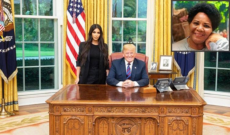 Alice Marie Johnson and Donald Trump Split (Twitter/Family Photo)