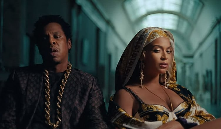 """Beyonce and Jay Z from the single """"Apeshit"""" (Credit: YouTube)"""
