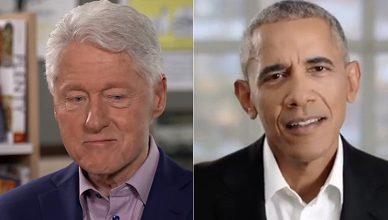 Bill Clinton and Barack Obama (Credit: CBS and YouTube)