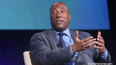 yron Allen at Black Enterprise Summit With Logo (Credit: Blackenterprise.com)
