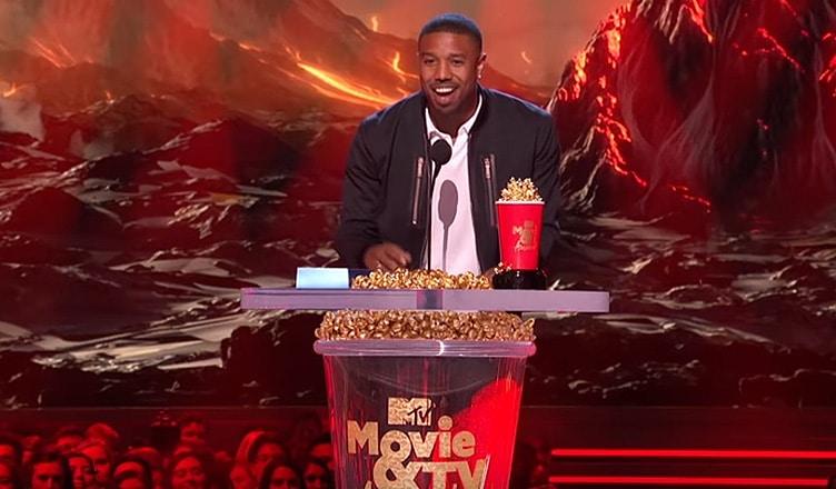 Michael B Jordan at MTV Awards in 2018. (Credit: YouTube)