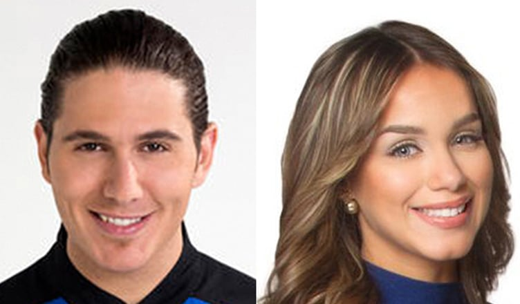 James Tahhan and Janice Bencosme (Credit: Telemundo)