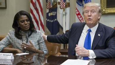 Omarosa Manigault-Newman and Donald Trump (Credit: White House)