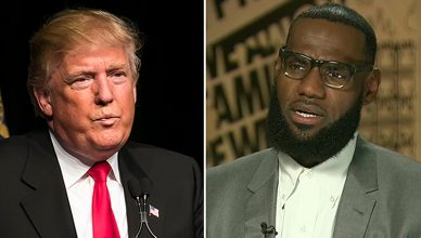 Donald Trump and LeBron James (Credit: Deposit Photos and CNN)