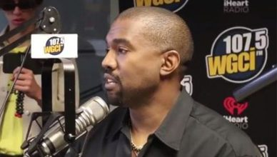 Kanye West Radio Interview (Credit: WGCI-FM)