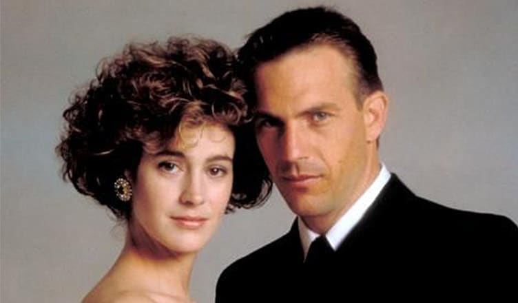 Sean Young and Kevin Costner in No Way Out (Credit: Orion)