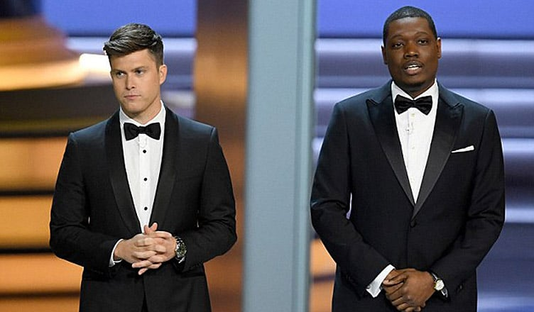 Colin Jost and Michael Che Hosting the Emmys (Credit: YouTube)
