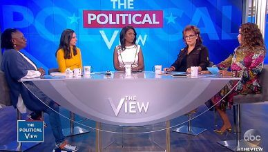 """Omarosa appeared on """"The View"""" on Monday, September 10, 2018 (Credit: ABC)"""