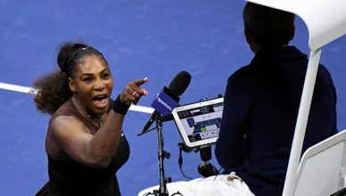 Serena Williams Argues With Umpire at US Open (Credit: YouTube)
