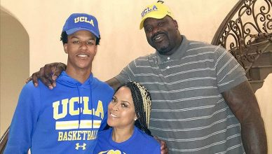 Shareef O'Neal is shown with his parents, Shaquille and Shaunie O'Neal. (Credit: Instagram)