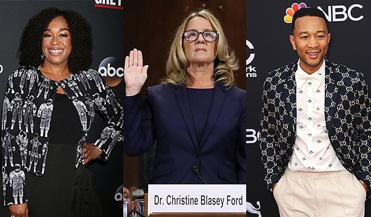 Shonda Rhimes, Christine Blasey Ford and John Legend (Credit: Deposit Photos)