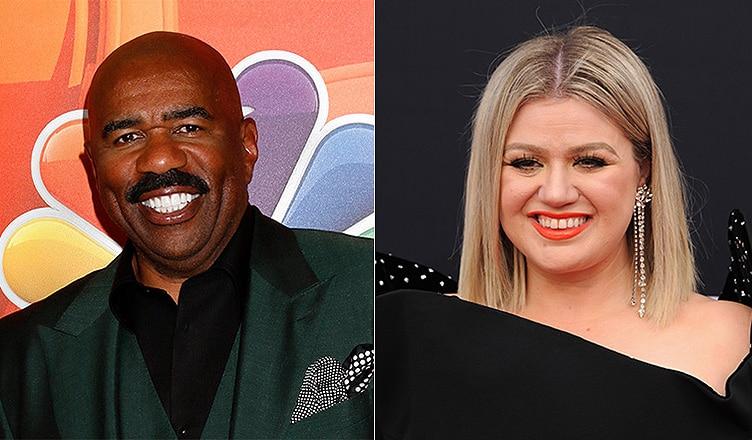 Steve Harvey and Kelly Clarkson (Credit: Deposit Photos)