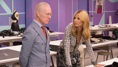 Tim Gunn and Heidi Klum on Project Runway (Credit: Lifetime)