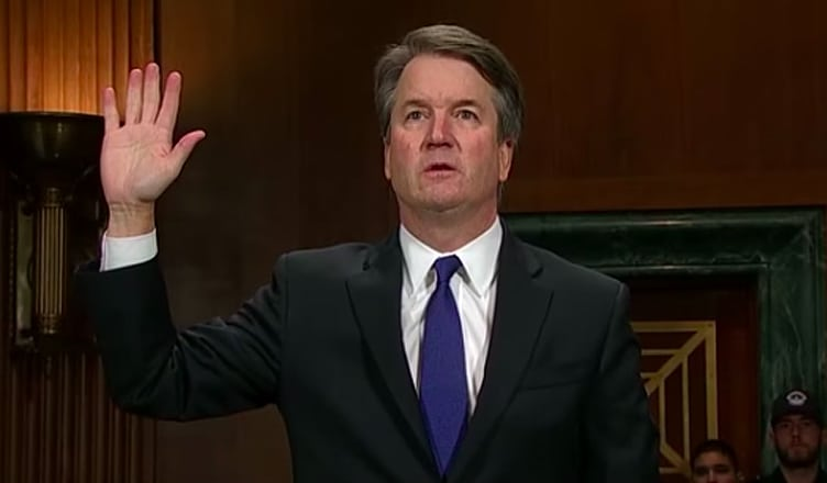 Brett Kavanaugh testifies before the Senate Judiciary Committee on Sept. 27. (Credit: Fox 10 Phoenix/You Tube)