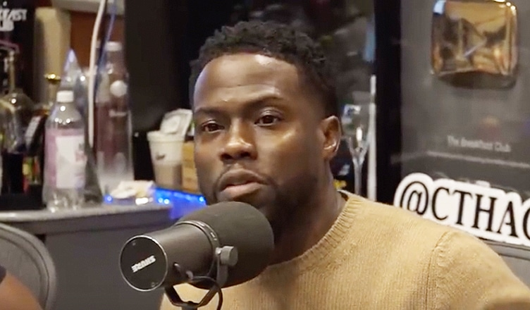 Kevin Hart during a Sept. 21 appearance on The Breakfast Club (Credit: Breakfast Club Power 105.1 FM/YouTube)