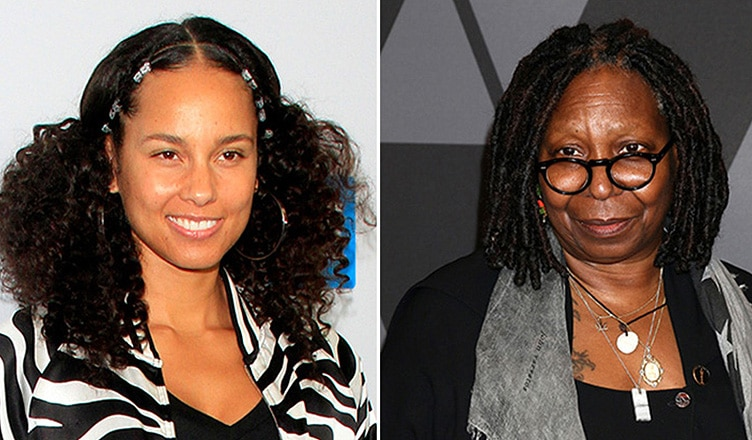Alicia Keys and Whoopi Goldberg (Credit: Deposit Photos)