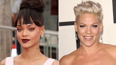 Rihanna and Pink (Credit: Deposit Photos)