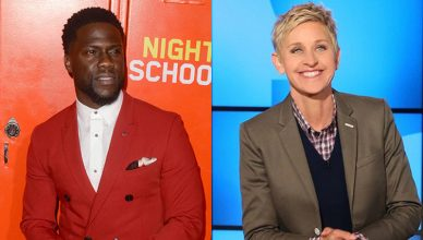 "Kevin Hart and Ellen DeGeneres (Deposit Photos and ""Ellen"")"