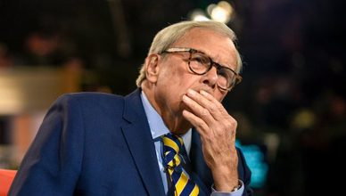 Tom Brokaw on Meet the Press. (Credit: NBC)