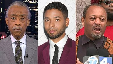 Al Sharpton Jussie Smollett Najee Ali (Credit: MSNBC/Deposit Photos/Facebook)