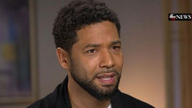 "ussie Smollett on ""Good Morning America."" (Credit: ABC News)"