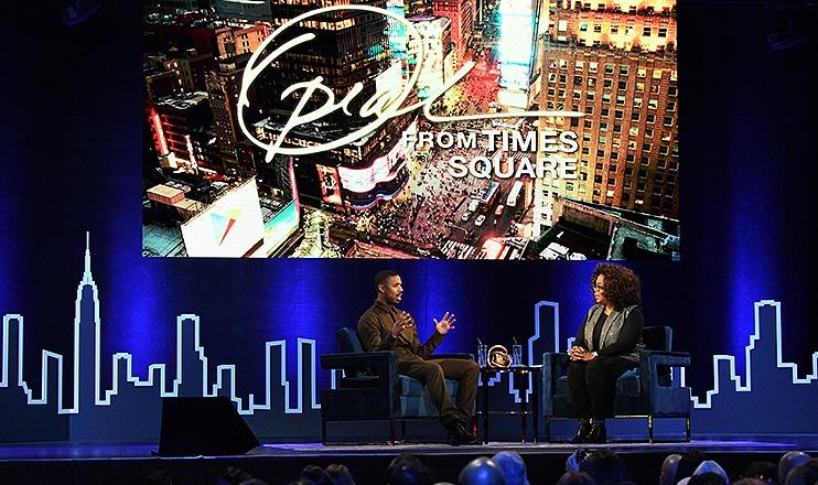 Michael B. Jordan is interviewed by Oprah Winfrey. (Credit: OWN/JoJo Whilden)