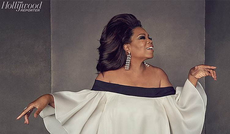 Oprah appears on the new cover of The Hollywood Reporter