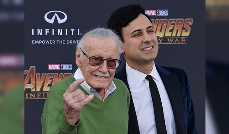 Stan Lee and Keya Morgan Avengers Premiere (Credit: YouTube)