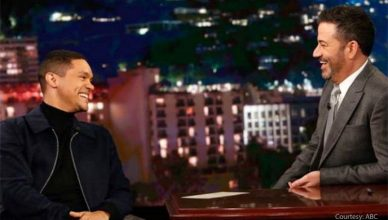 Trevor Noah on Jimmy Kimmel Live. (Credit: ABC)