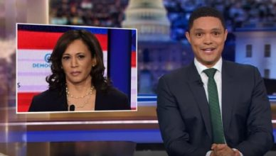 Trevor Noah talks Debate and Kamala Harris (Credit: YouTube/Comedy Central)