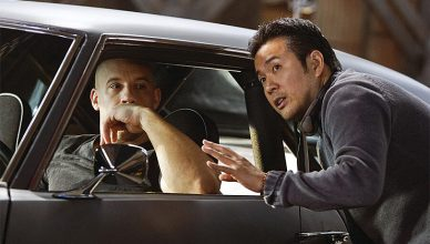 Vin Diesel and Fast & Furious 9 director Justin Lin (Credit: Universal Pictures)