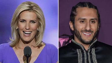 Laura Ingraham and Colin Kaepernick (Credit: Shutterstock)