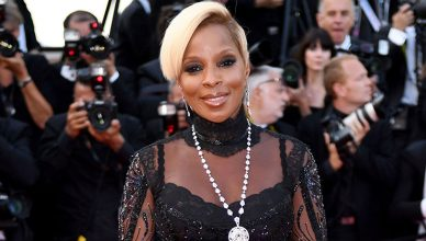 """May 21, 2017: Singer Mary J. Blige at the premiere for """"The Meyerowitz Stories"""" at the 70th Festival de Cannes. (Credit: Shutterstock)"""