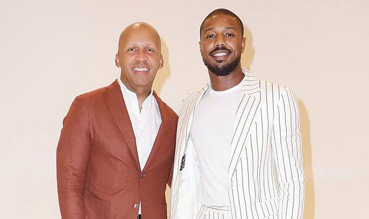 Bryan Stevenson and Michael B. Jordan (Credit: Warner Bros.)