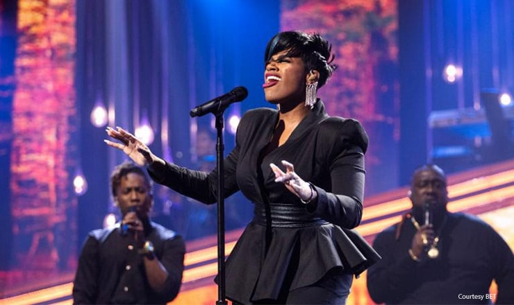 "Fantasia performs on the Aug. 18, 2019 episode of ""Sunday Best."" (Credit: BET)"