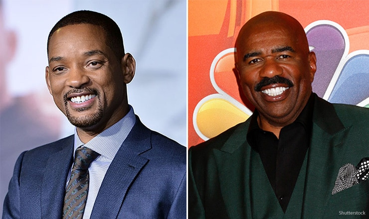 Will Smith and Steve Harvey (Credit: Shutterstock)