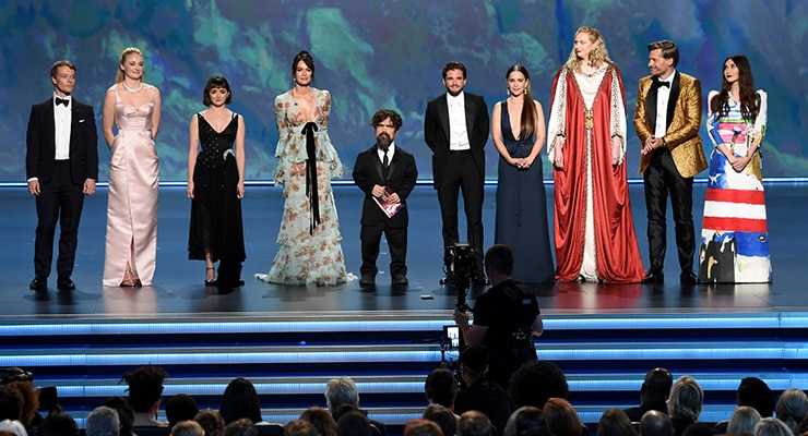 """""""Game of Thrones"""" was named Game of Thrones Outstanding Drama Series at the 2019 Emmy Awards. (Credit: Shutterstock)"""