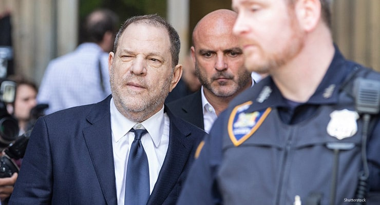 New York, NY - June 5, 2018: Harvey Weinstein leaves court after not guilty plea during arraigement on rape and criminal sex act charges at State Supreme Court (Credit: Shutterstock)