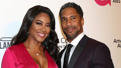 Kenya Moore, Marc Daly at the 2018 Elton John AIDS Foundation Oscar Viewing Party at the West Hollywood Park on March 4, 2018 in West Hollywood, CA. (Credit: Jean Nelson/Deposit Photos)