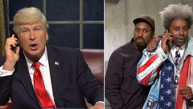 SNL Season 45 Premiere featured Alec Baldwin addressing the impeachment scandal. (Credit: NBC)