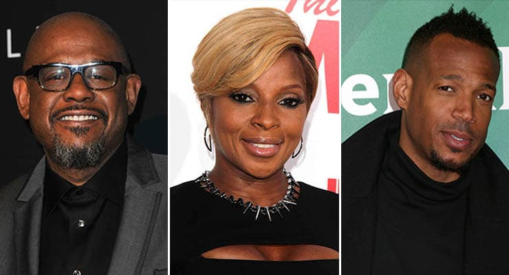"Forest Whitaker, Marlon Wayans, Mary J. Blige join the film ""Respect."" (Credit: Deposit Photos)"