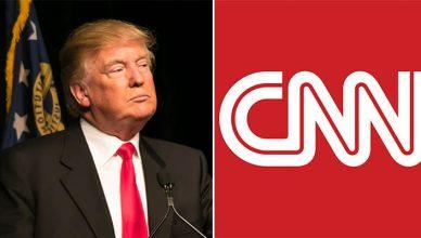 Donald Trump and CNN (Credit: Deposit Photos/CNN)