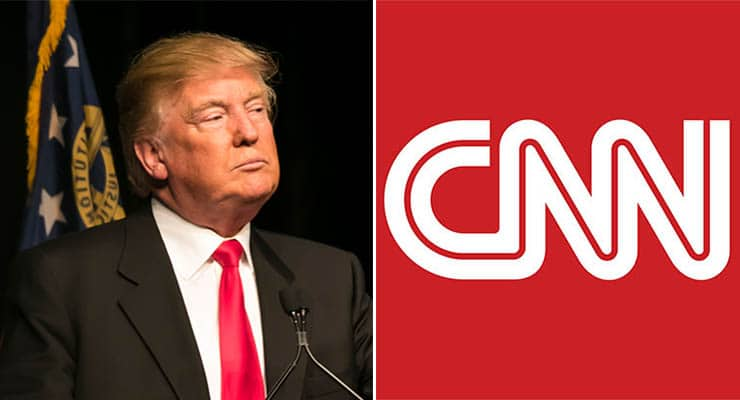 Donald Trump and CNN (Credit: Deposit Photos/CNN)