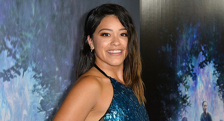 "Gina Rodriguez at the premiere for ""Annihilation"" at the Regency Village Theatre, Los Angeles, USA 13 Feb. 201 — Photo by Featureflash"